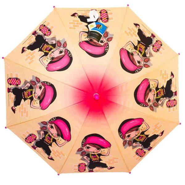 Детский зонт трость-девочка и скейтборд | Lucky Elephants