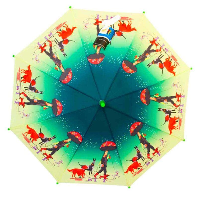 Детский зонт трость-собачка |Lucky Elephants