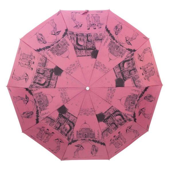 Зонт Три Слона полный автомат цвет розового коралла