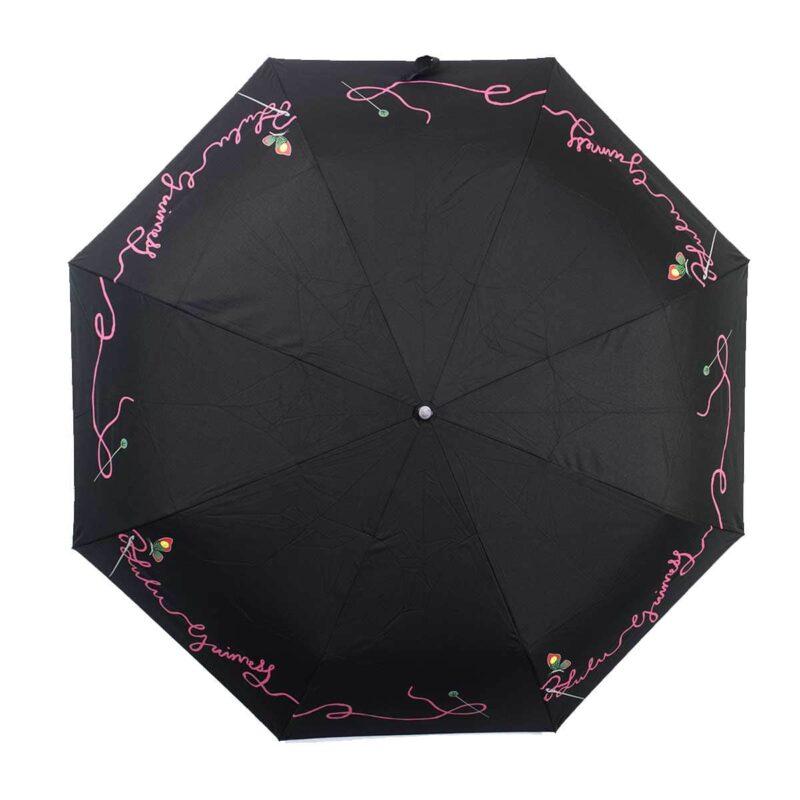 Женский зонт doppler полный автомат черный