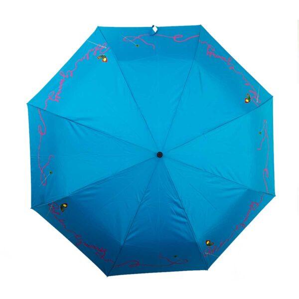 Женский зонт doppler полный автомат бирюзовый