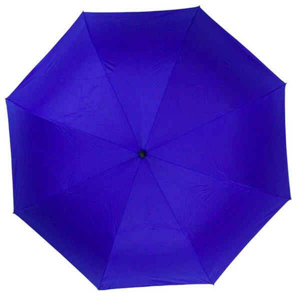 Зонт трость наоборот полуавтомат серо голубого цвета