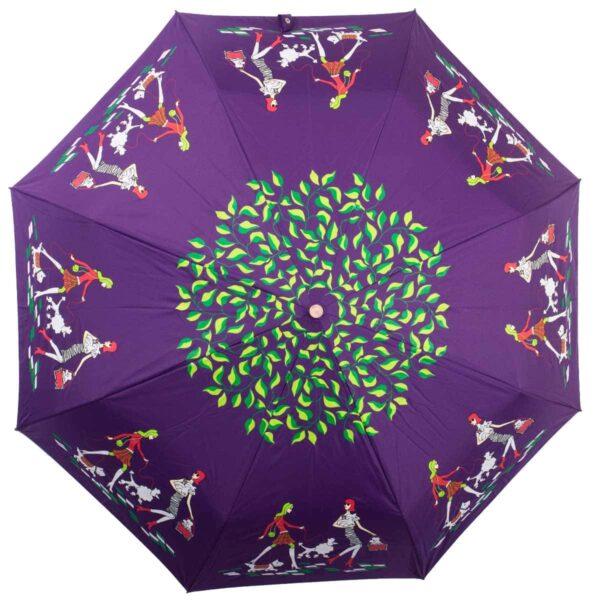 Женский зонт сиреневого цвета полный автомат-Kobold