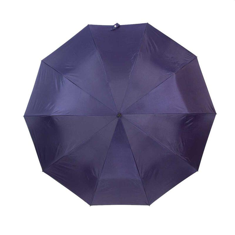 Зонт двухсторонний темно-синий газета-Три Слона