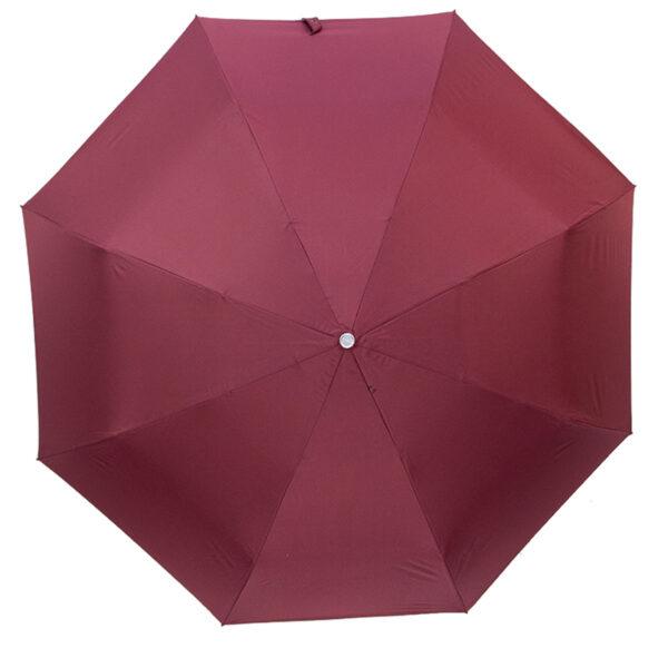 Женский зонт двухсторонний-цвет бордовый