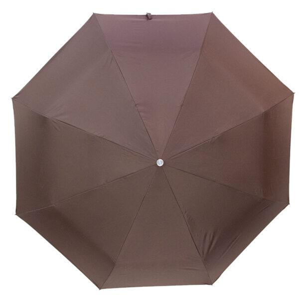 Женский зонт двухсторонний-цвет коричневый