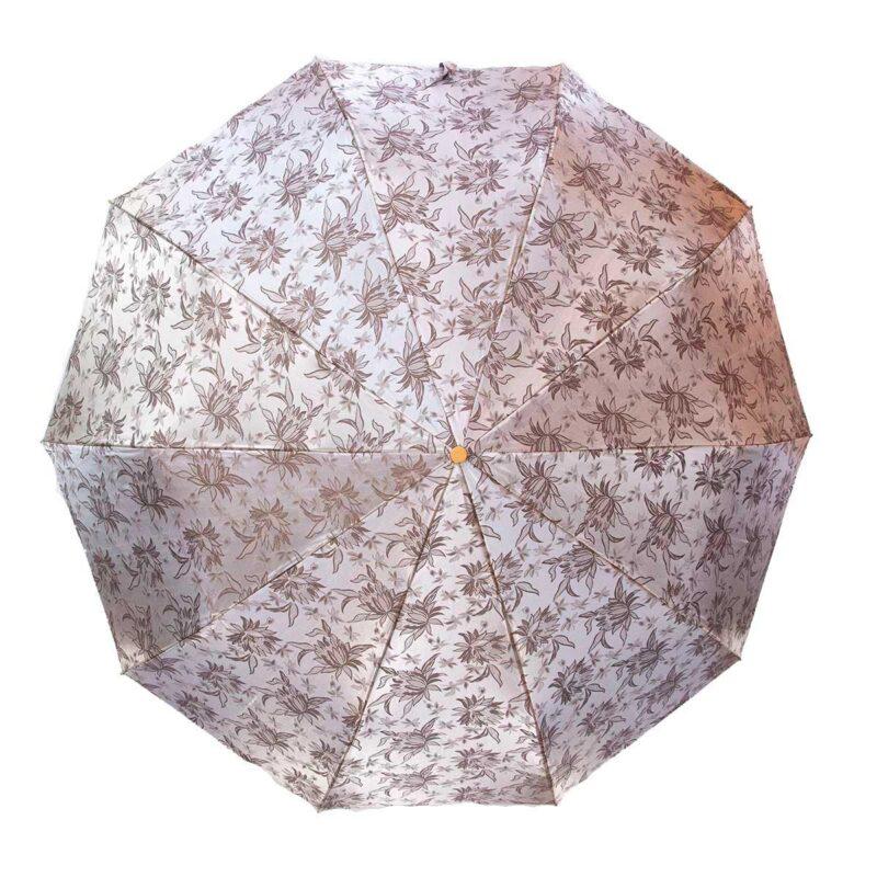 Зонт жаккард серебристого цвета полный автомат