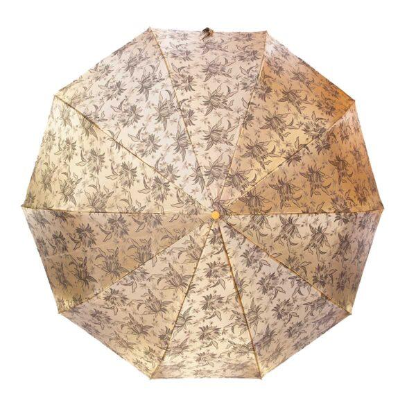 Зонт жаккард золотого цвета полный автомат