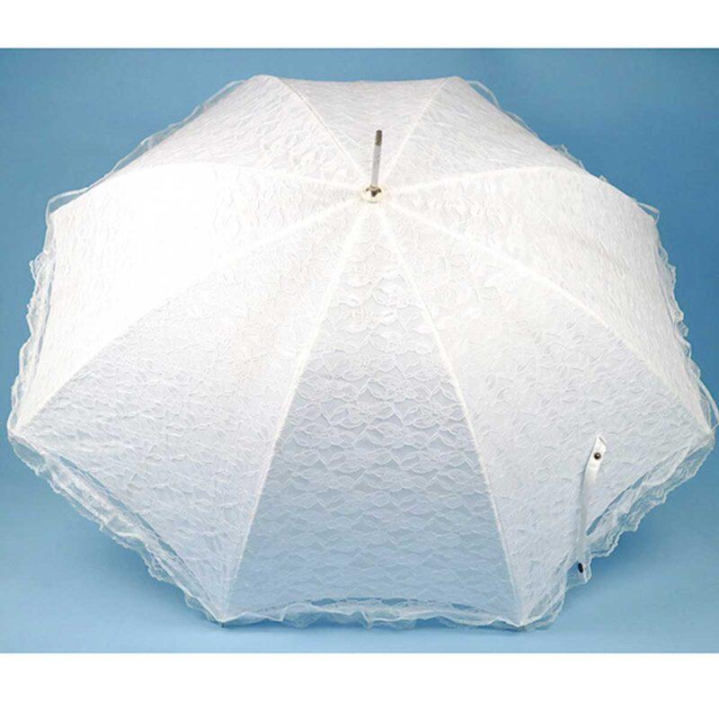 Зонт-трость свадебный белый  Три Слона