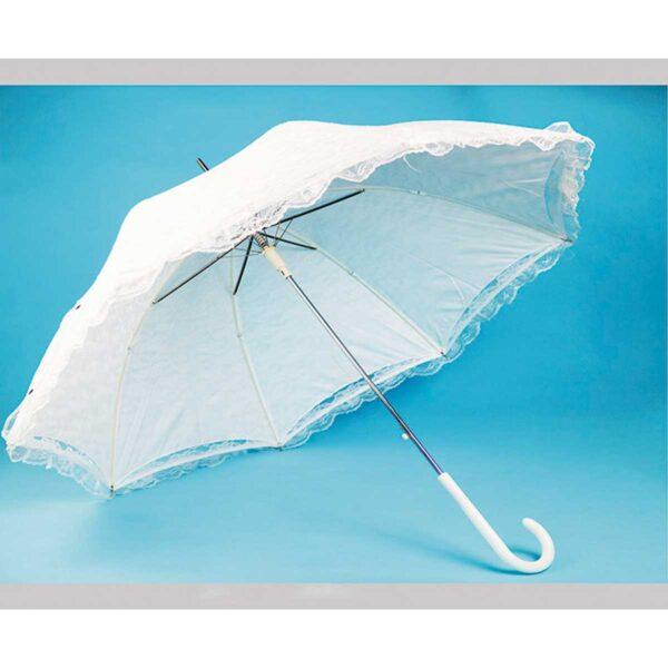 Зонт-трость свадебный белый |Три Слона