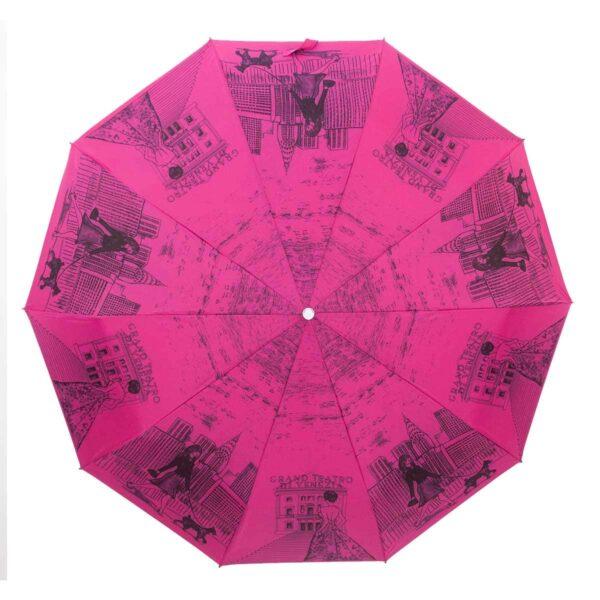 Зонт Три Слона полный автомат малиновый цвет