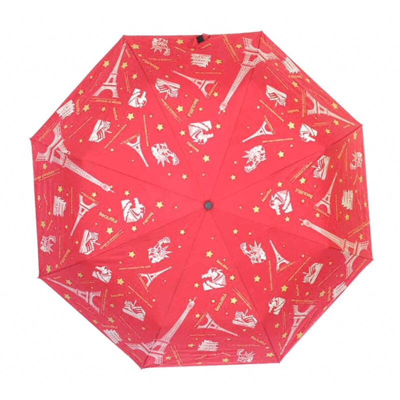 Женский зонт doppler-полный автомат красного цвета