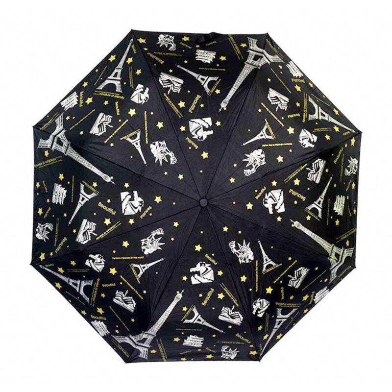 Женский зонт doppler-полный автомат чёрного цвета