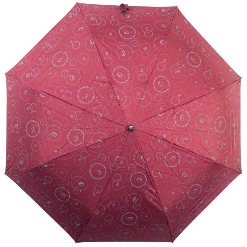 Зонт doppler-полный автомат бордового цвета