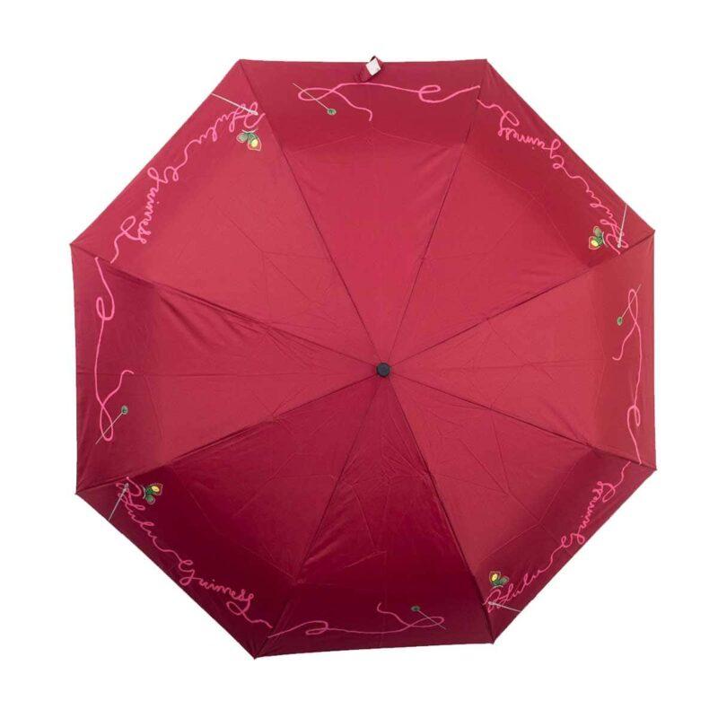 Женский зонт полный автомат бордовый |doppler