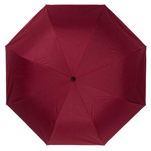 Женский зонт трость наоборот бордовый-темно-синий