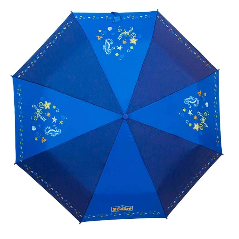 Детский зонт складной с рисунком глубина океана