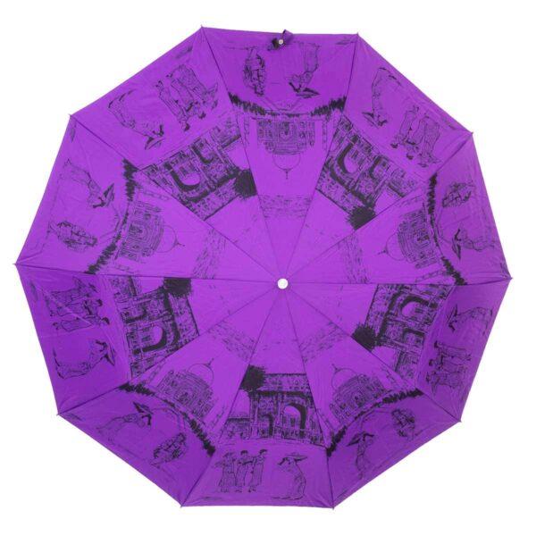 Зонт Три Слона полный автомат фиолетового цвета