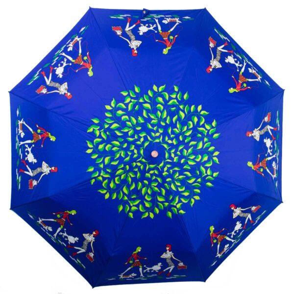 Женский зоЖенский зонт полный автомат синего цвета-Koboldнт полный автомат синего цвета-Kobold