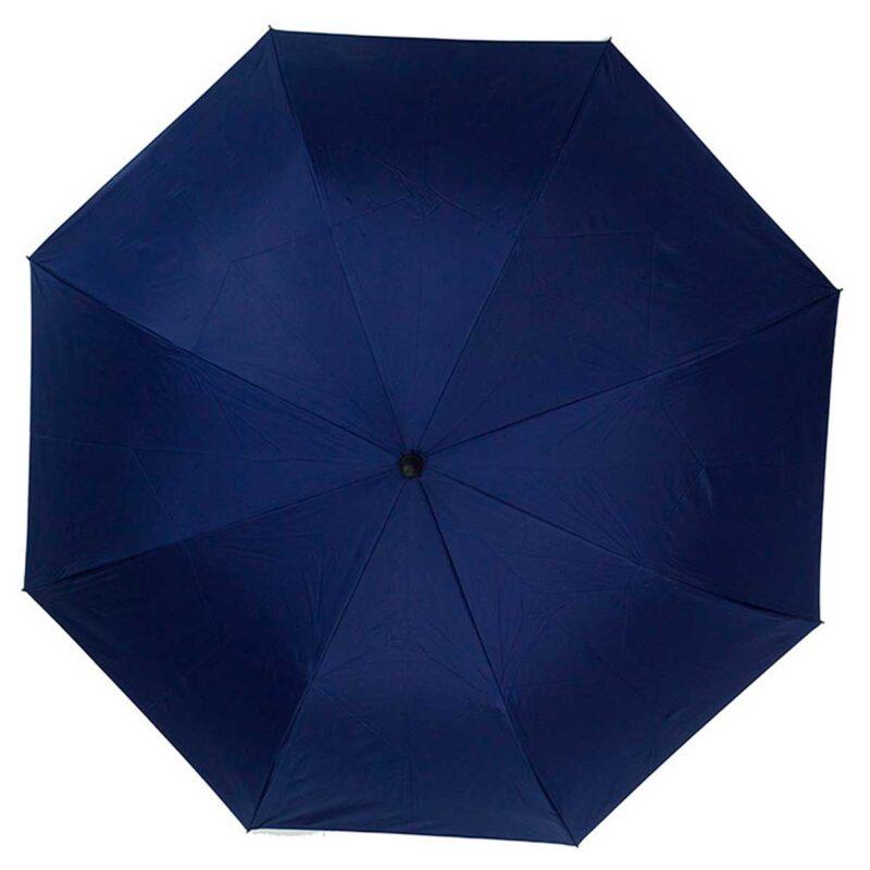 Женский зонт трость наоборот темно-синий-бордовый