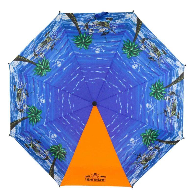 Детский зонт складной с рисунком-Пираты