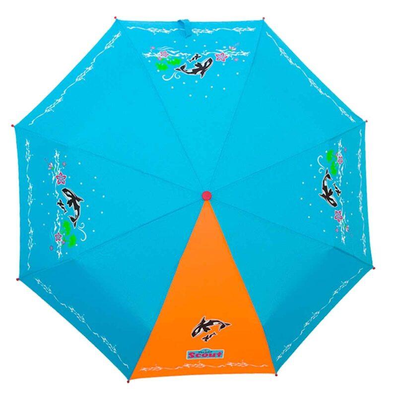 Детский зонт складной с рисунком-Дельфин