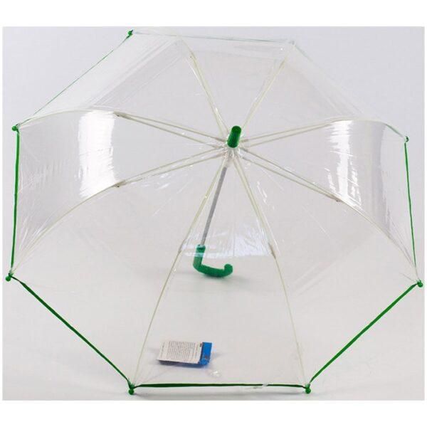 Прозрачный детский зонт-трость |Lucky Elephants