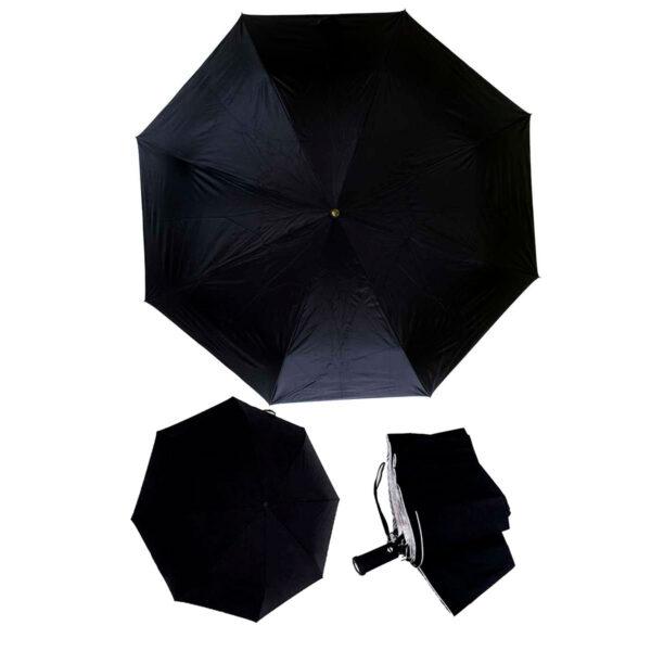Женский зонт двухсторонний-цвет черный