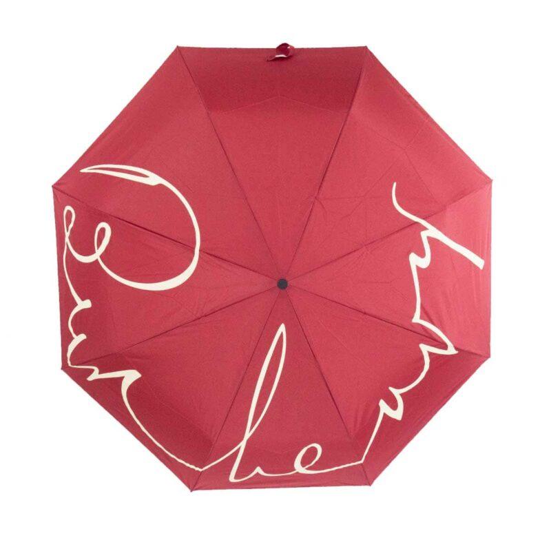 Женский зонт doppler-полный автомат темно-красный цвет