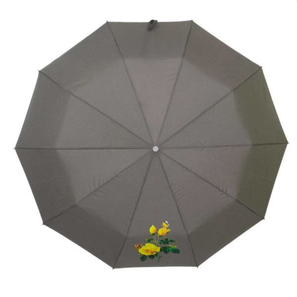 Женский зонт полный автомат серого цвета-Три Слона
