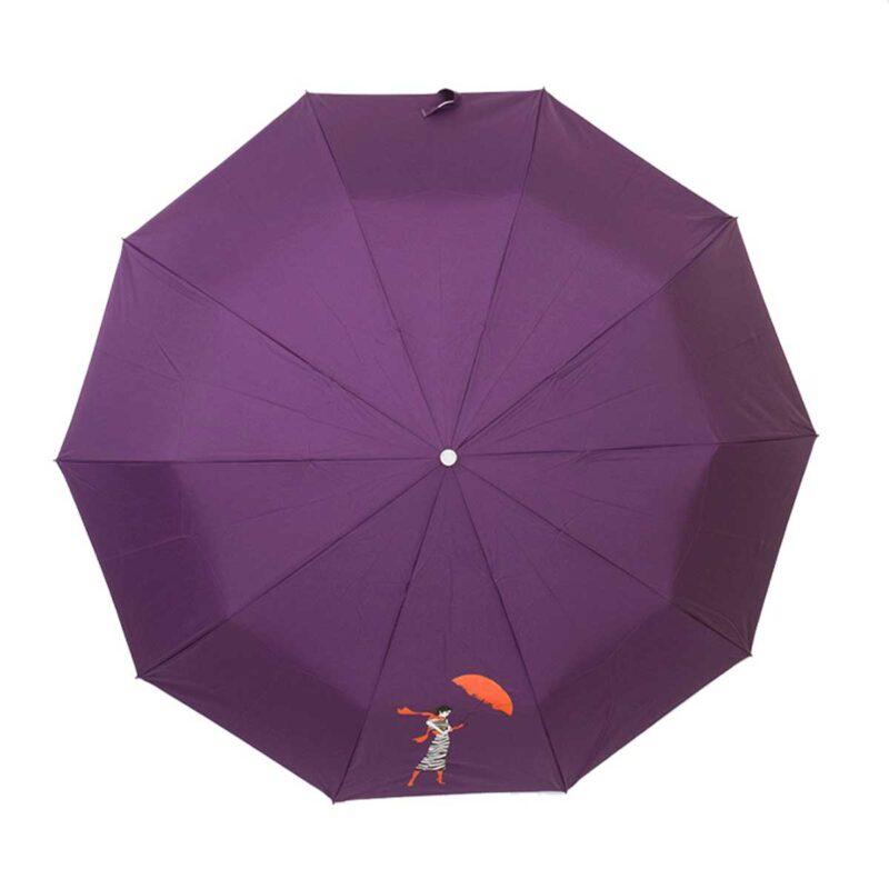 ЖенскЖенский зонт полный автомат однотонный-Три Слонаий зонт полный автомат однотонный-Три Слона