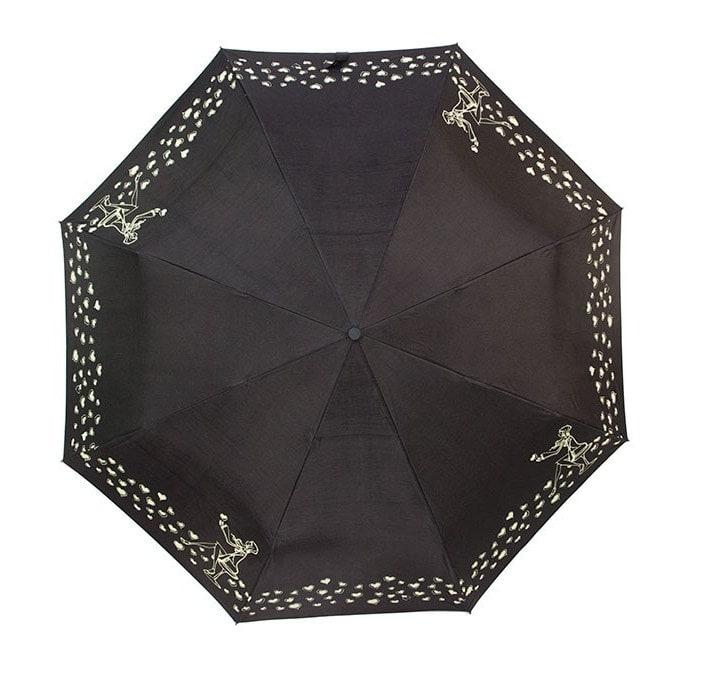 Женский зонт doppler-двухсторонний черно-серебристый цвет