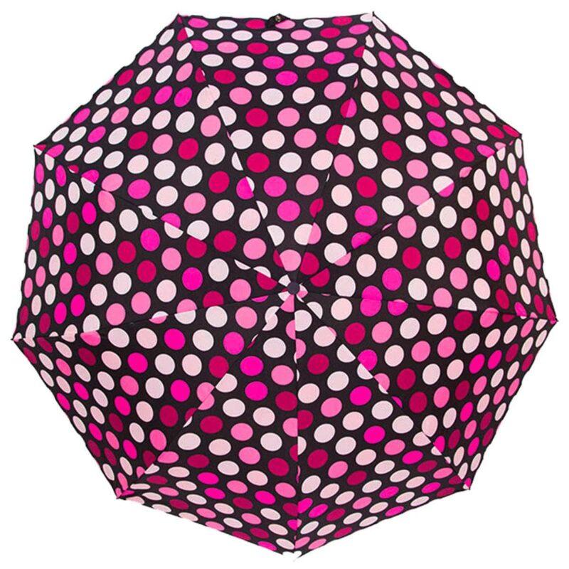 Зонт полуавтомат в горошек