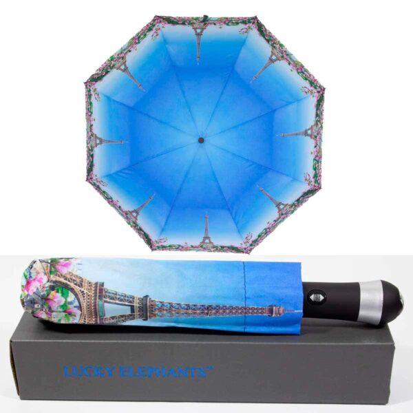 Зонт с фонариком полный автомат звездное небо