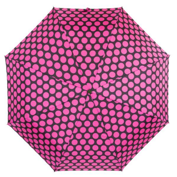 Зонт Три Слона мини в горошек малинового цвета