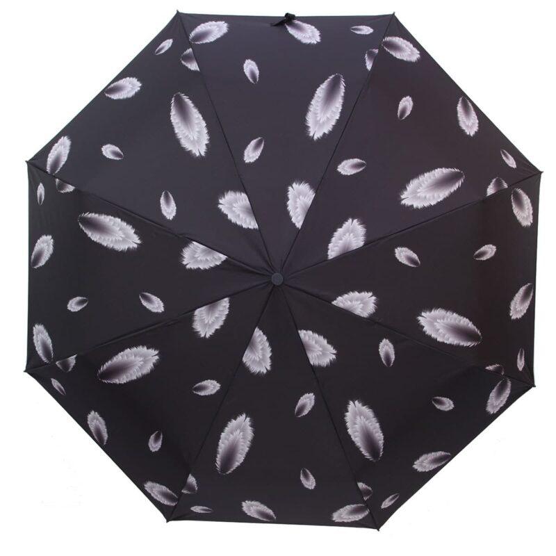 Зонт абстракция полный автомат черного цвета