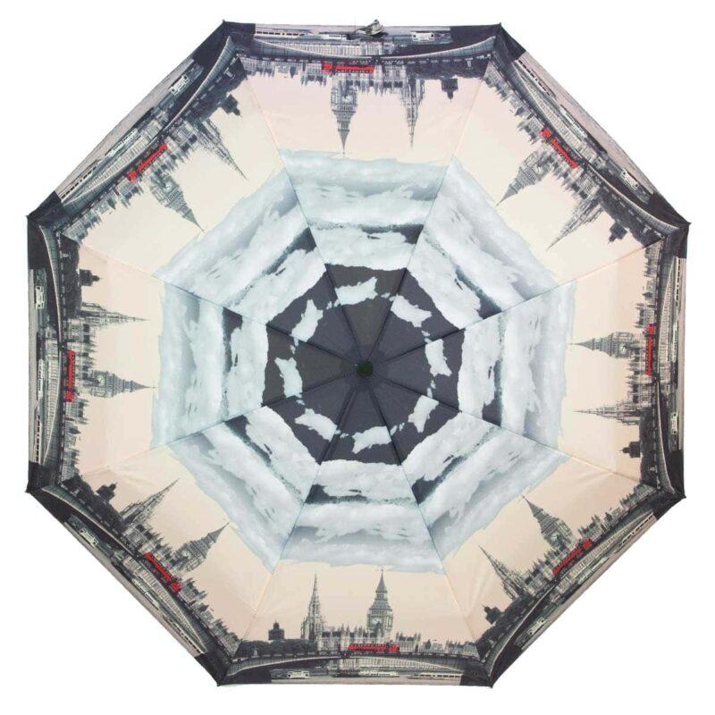 Зонт с принтом бежевого цвета