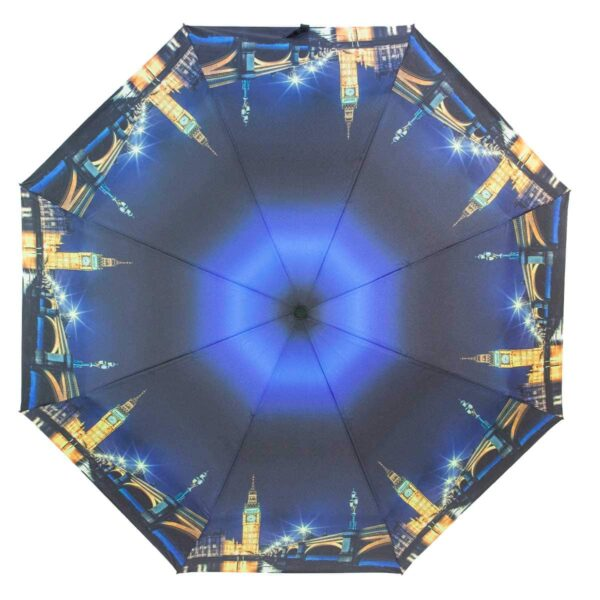 Зонт с принтом синего цвета