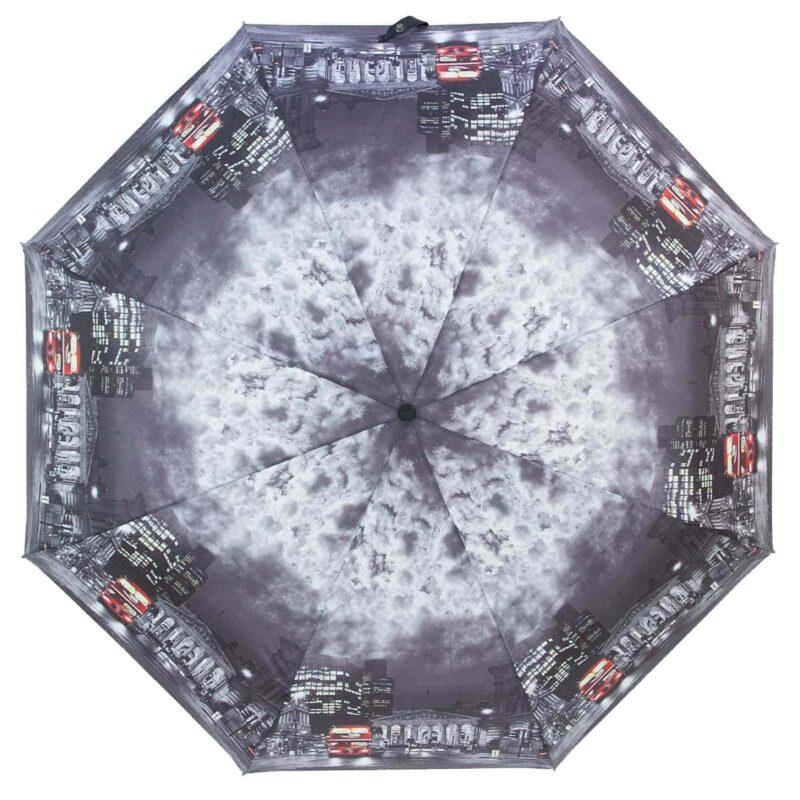 Зонт с принтом серого цвета