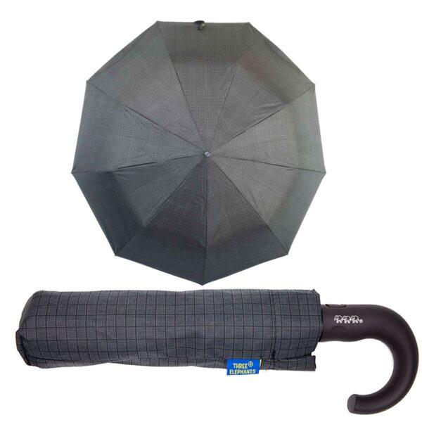 Зонт полуавтомат в клетку