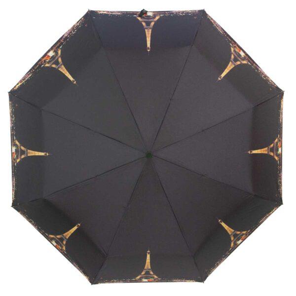 Зонт чёрного цвета Эйфелева башня полный автомат