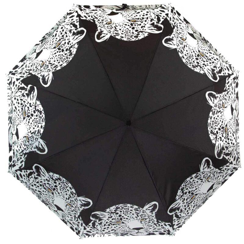 Женский зонт с принтом леопарда полный автомат