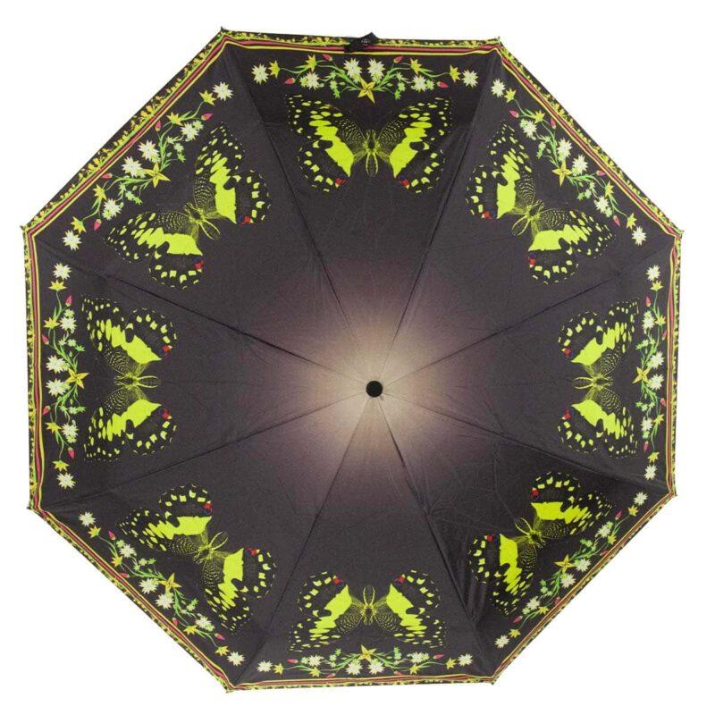 Женский зонт полный автомат коричневого цвета