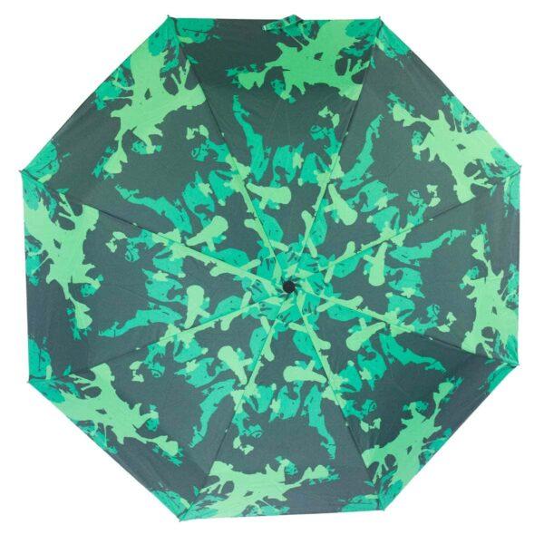 Зонт абстракция зеленого цвета