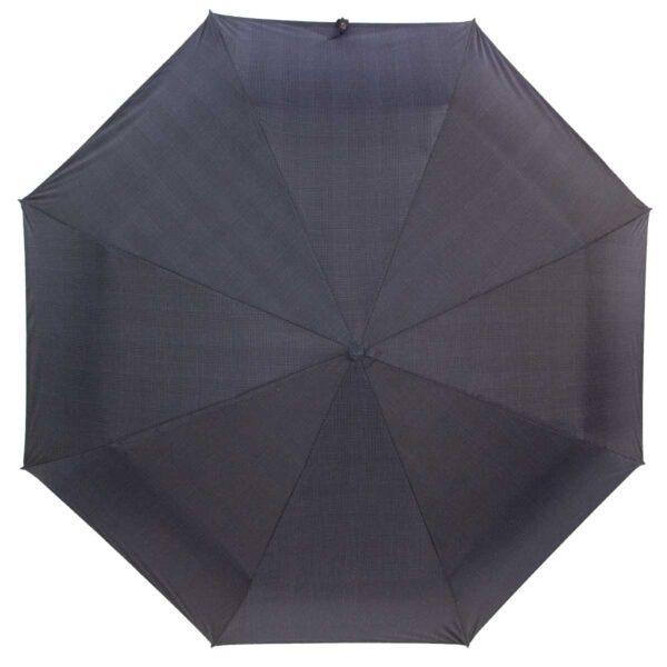 Мини зонт механический черно серого цвета в клетку