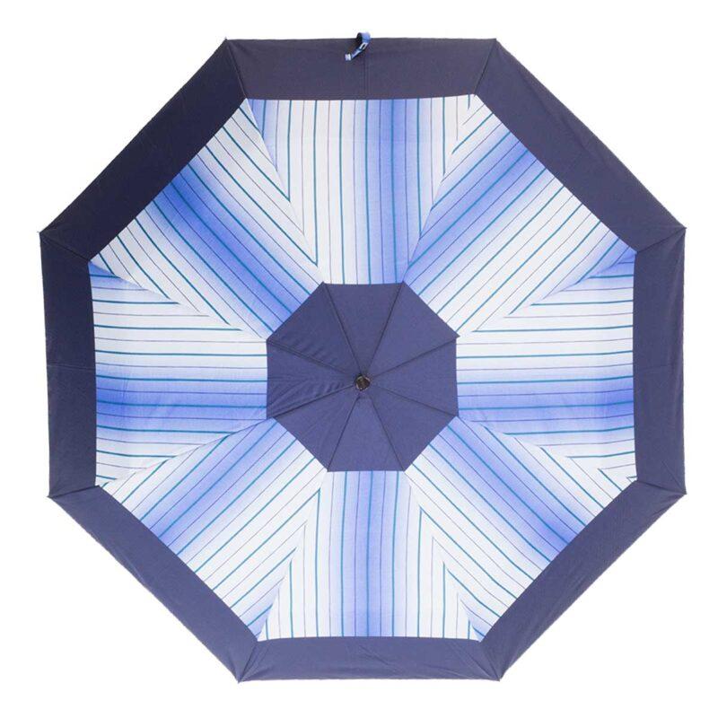 Женский зонт в полоску полный автомат