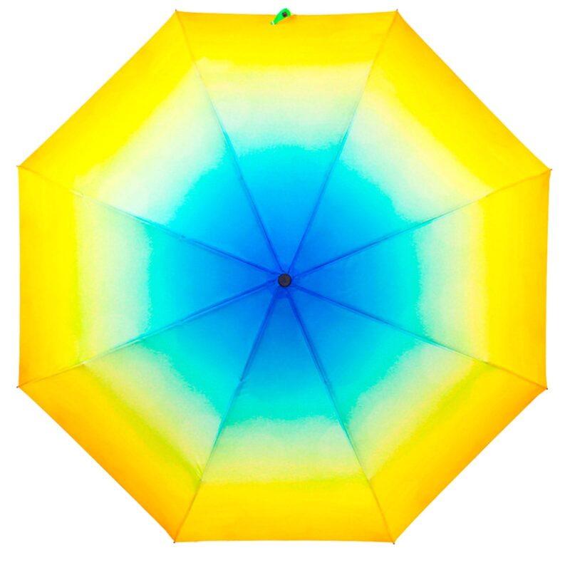 Зонт абстракция желто-голубого цвета