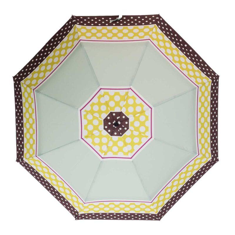 Женский зонт в горох-Три Слона полный автомат