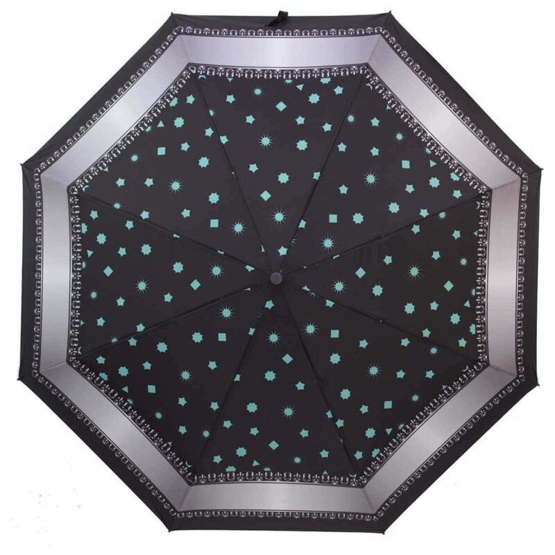 Зонт с звездным небом черного цвета