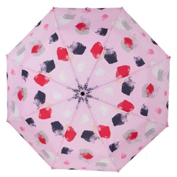 Зонт абстракция розового цвета полный автомат